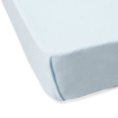 PLAIN JERSEY FITTED SHEET (M) 105*60CM - BLUE