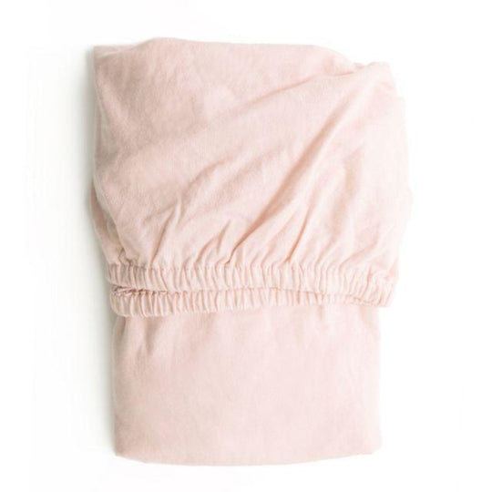 PLAIN JERSEY FITTED SHEET (M) 105*60CM - PINK