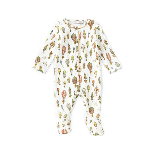 CLASSIC PLAYSUIT - HOT AIR BALLOONS (12-18m)