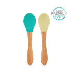 SILICONE SCOOPS 2PCS SET GREEN & YELLOW