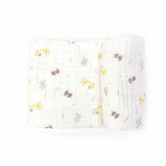 MUSLIN BLANKET - ZOO YELLOW