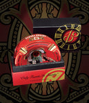 "Arturo Fuente Rnd Dec Ceramic ""Hands of Time"" Ashtray Red"