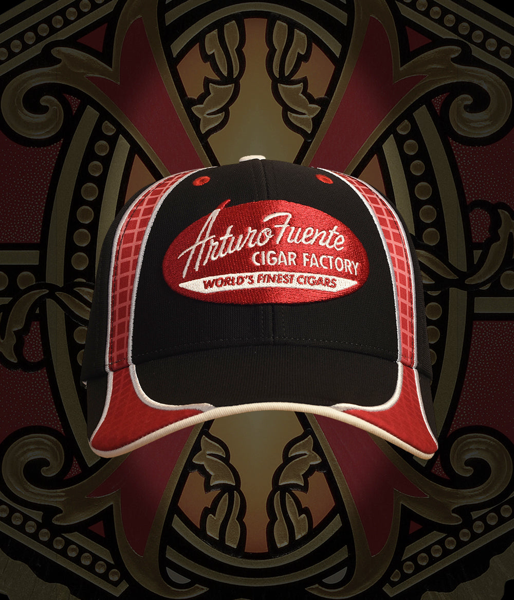 Arturo Fuente Cigar Factory Black/Red/White Hat