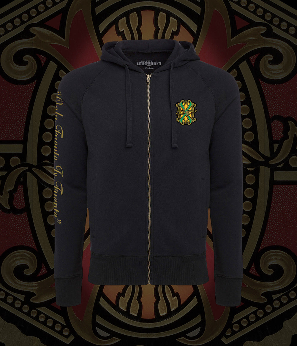 Arturo Fuente FFOX Cannon Jet Black Unisex French Terry Zip Hoodie Jacket