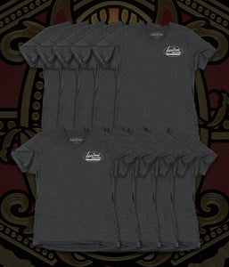 Arturo Fuente Cigar Factory Black Racine Mens Tee Shirt (One Set = 10 Units - 2 Per Size)