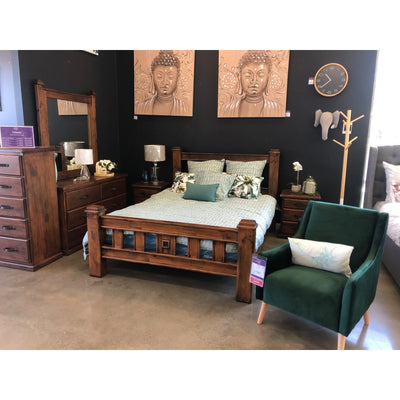 Orlando Queen Bed Rustic Made From Timber