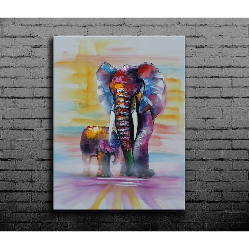 True Love Elephant Oil Canvas 90x120