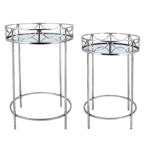 Ruth Silver Side Table S/2