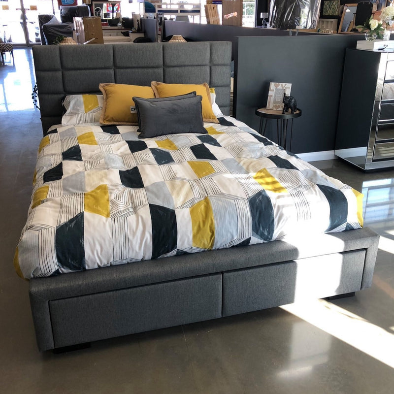 Adele Queen bed With Drawers