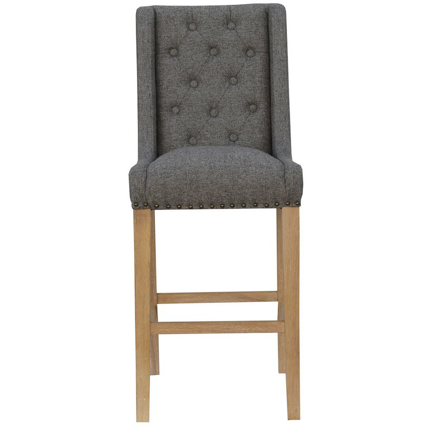 Kate Button Back Stool Grey CH29-DG
