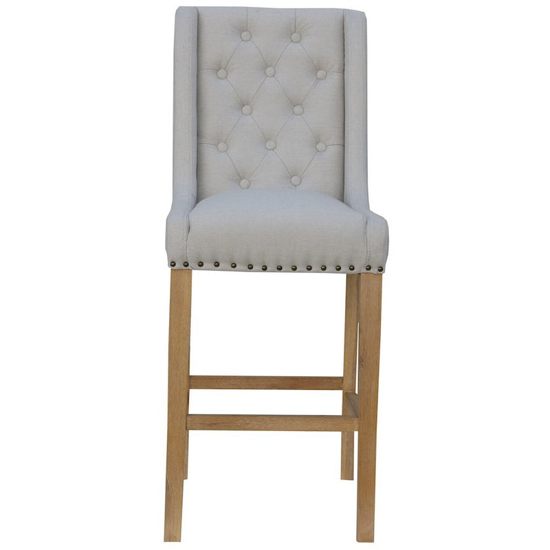 Kate Button Back Stool Natural CH29-NAT
