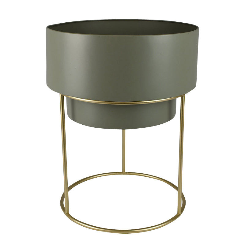 Mathias Metal Planter 40x50cm Grn/Gold