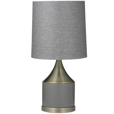 Dane Table Lamp Grey/Brass
