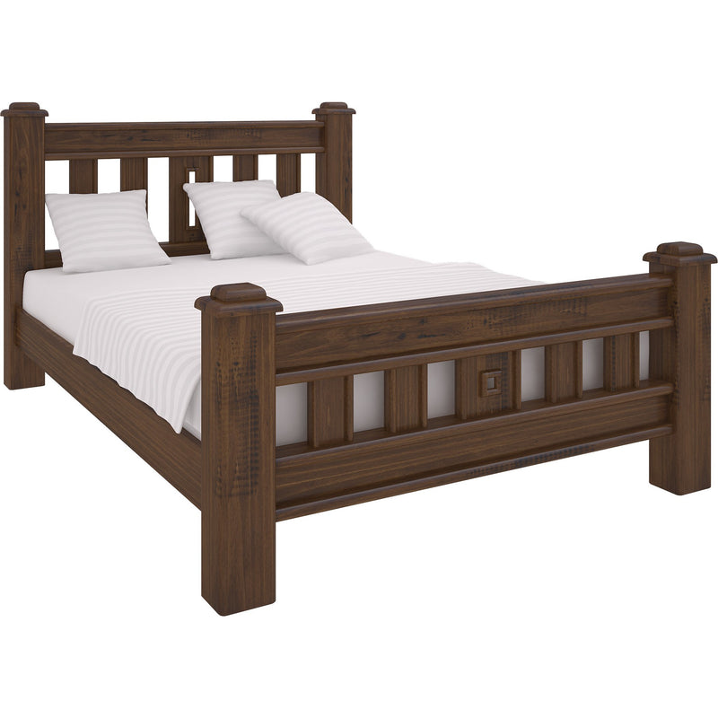 Orlando King Bed Rustic Made From Timber