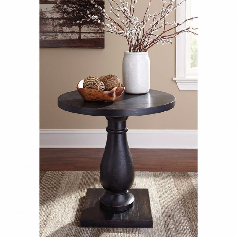 Vennilux Round Lamp Table - Black