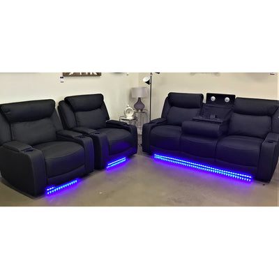 Excaliber 3 Seater Media Electric Recliner + Electric Recliner + Electric Recliner