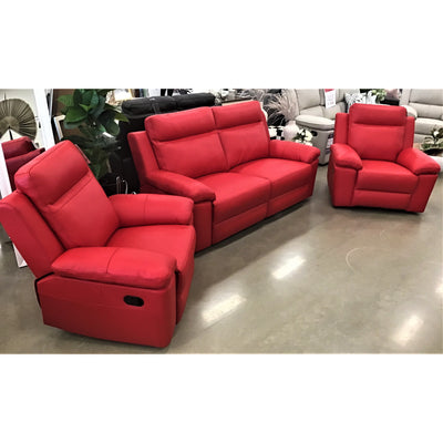 Monica 2.5 Seater + 2 Recliner Manual Lounge Package Thick Leather
