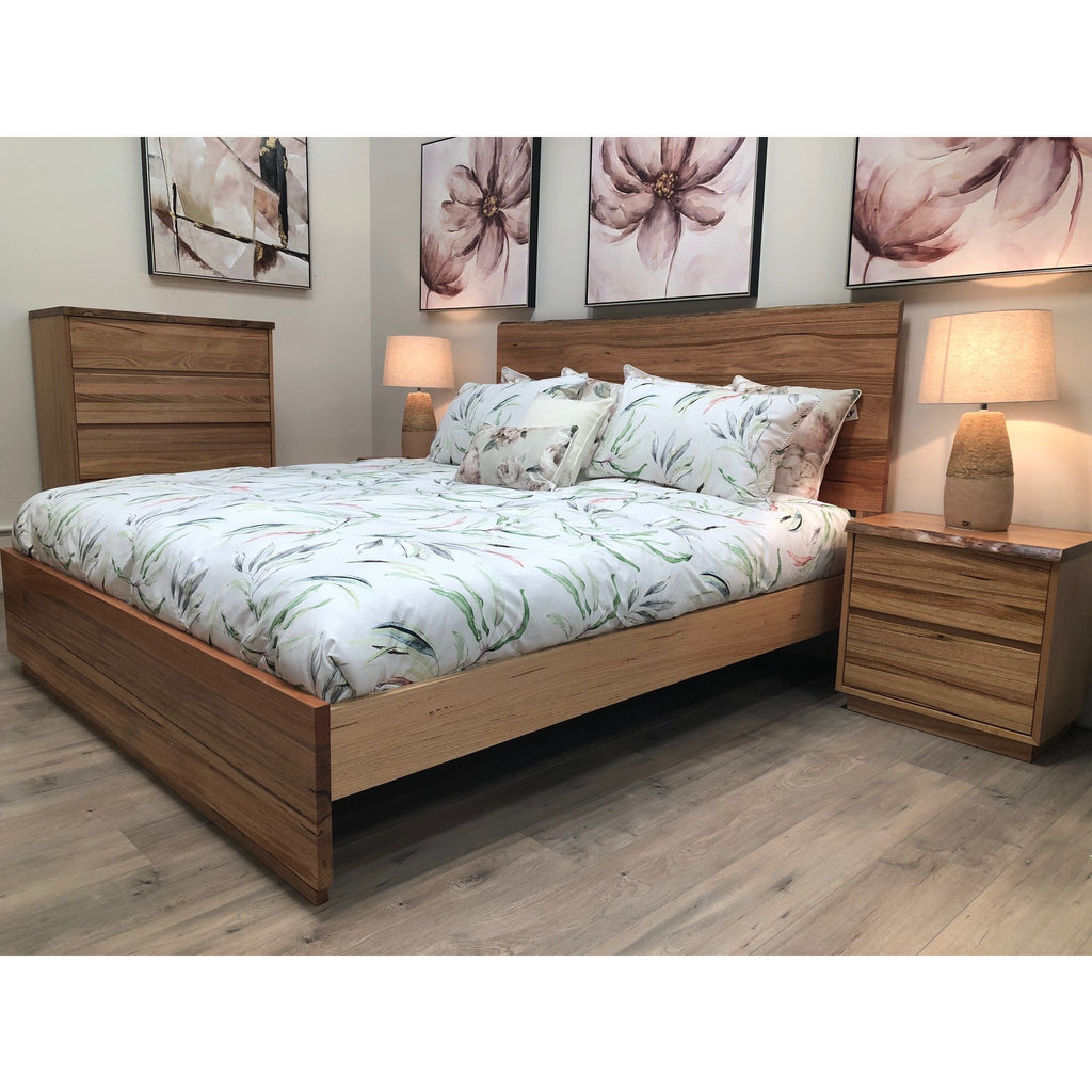 Red River Queen Bed, 2 Bedside, Tallboy Suite