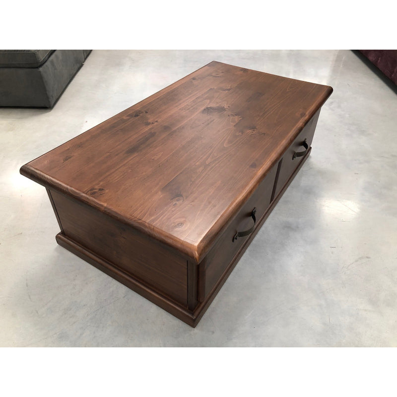 Orlando Coffee Table 2 Drawer (Rustic look, may display minor markings & imperfections)