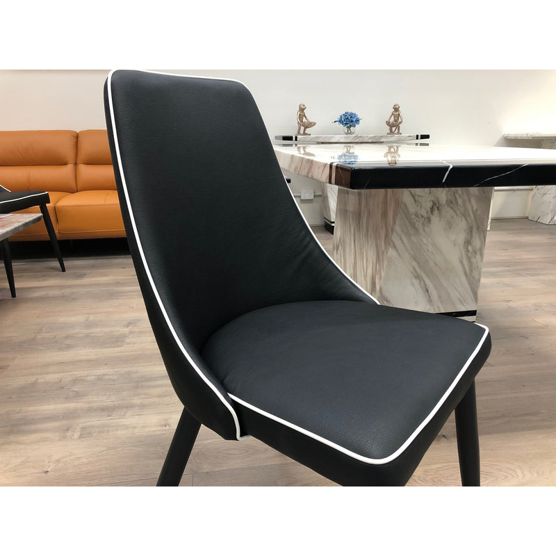 Tiffany Dining Chair Black & White DC220