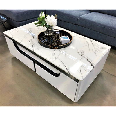 Tiffany Marble Coffee Table With Drawers