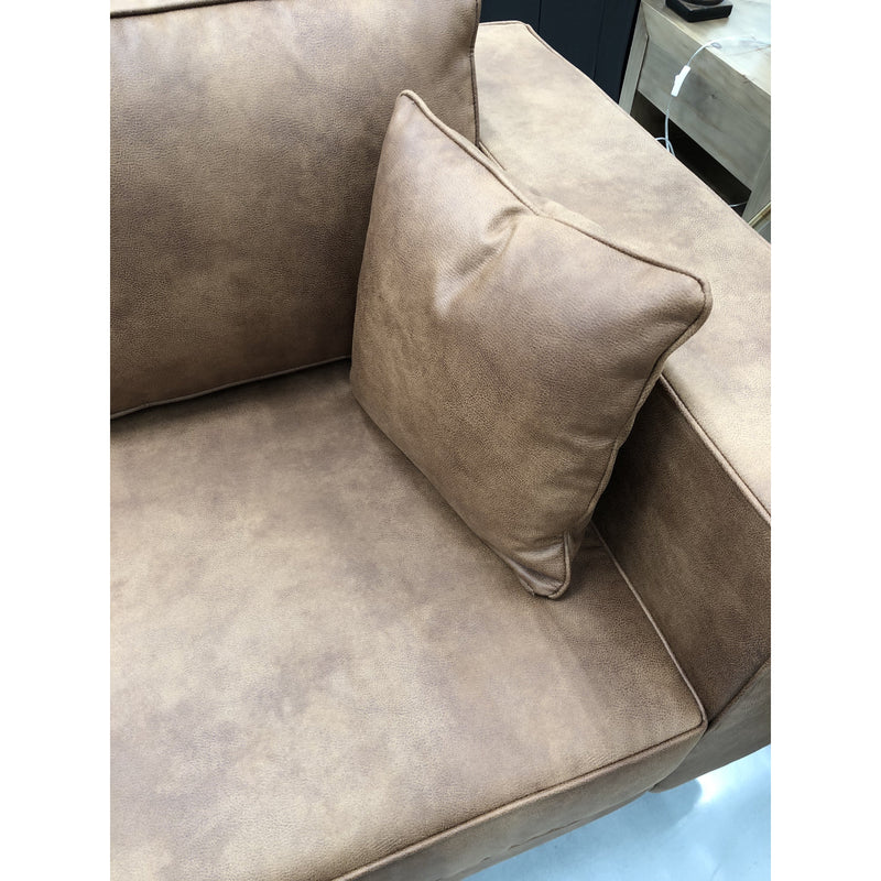 Phoenix 3 Seater Warwick Eastwood Tan Fabric w/ Natural Legs