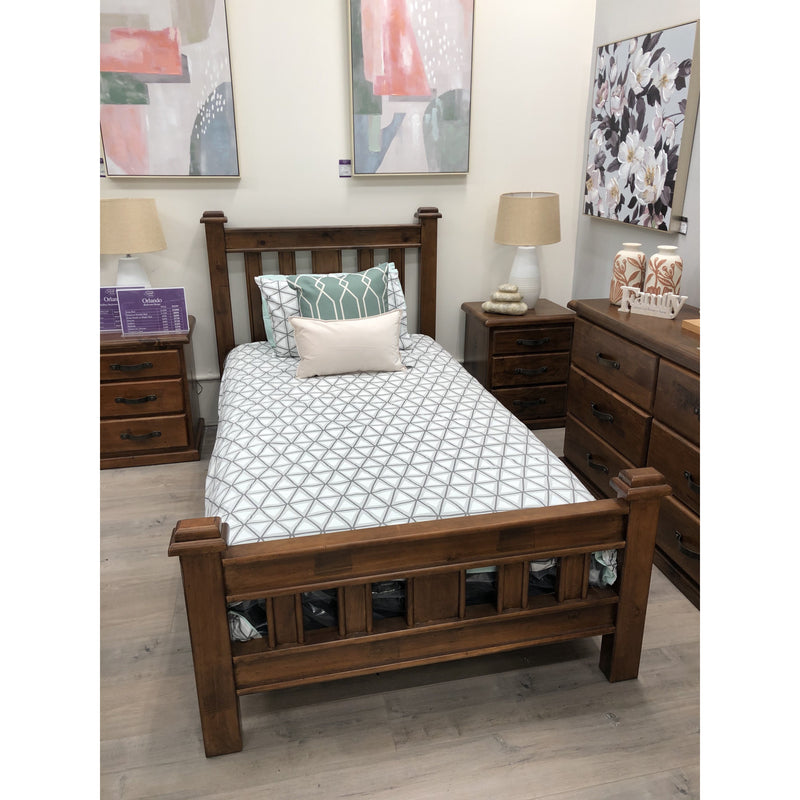 Orlando Single Bed Rustic Made From Timber