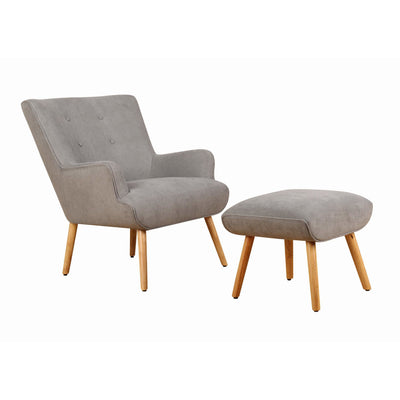 Lia Fabric Chair With Ottoman