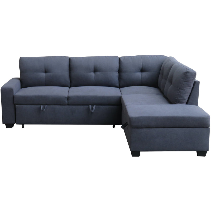 Hannah RHF Corner Sofabed With Ottoman