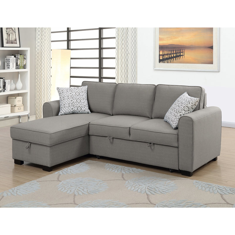 Jessie LHF Chaise With Sofabed & Storage