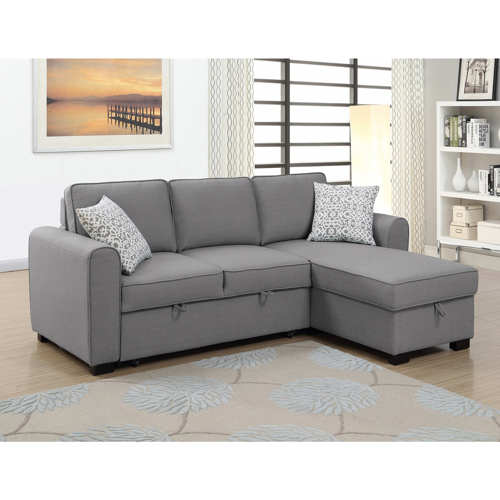 Jessie RHF Chaise With Sofabed & Storage
