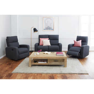 Oslo 2 Seater Loveseat + 2 Recliners Package