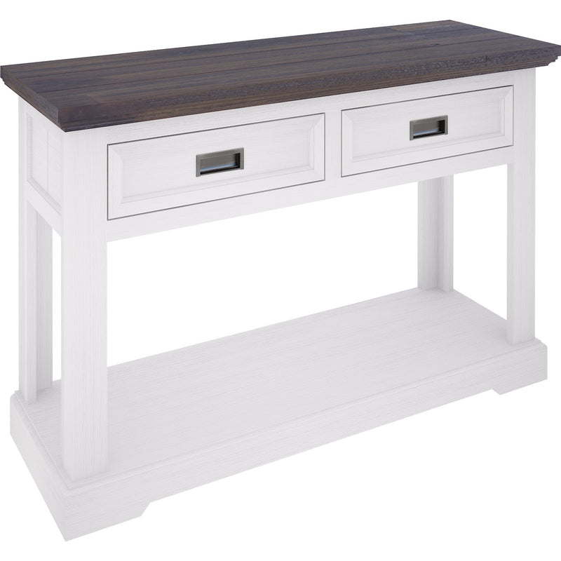 Paris Console Table 2 Drawers and Shelf Two Tone