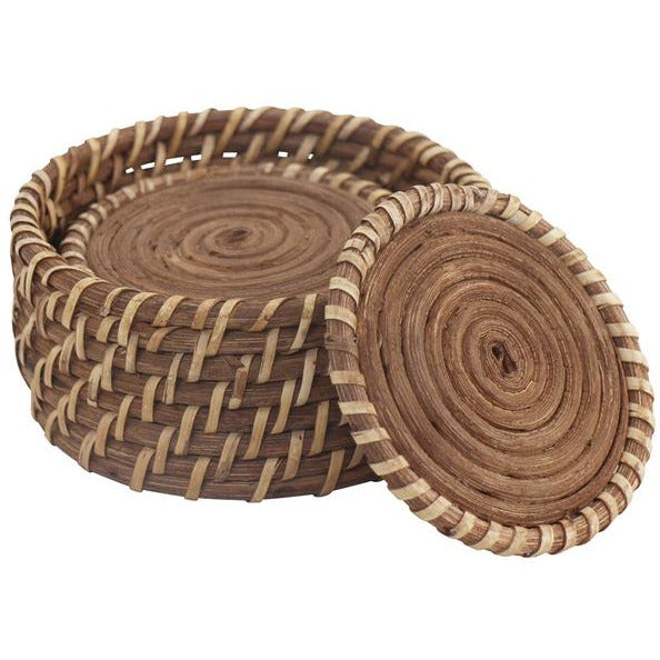 Baya Coasters Honey S/7 W/Holder