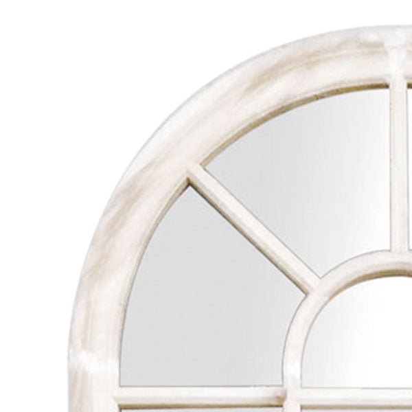 Romeo Arch Window Mirror Matte White 190x100