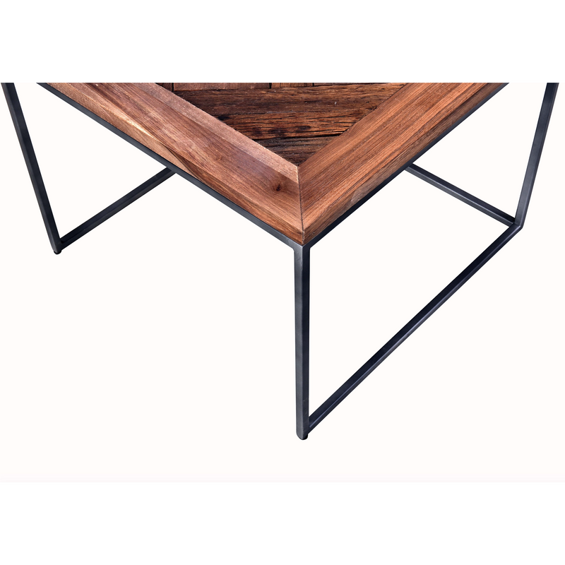Industrial Nest of 3 Square Table
