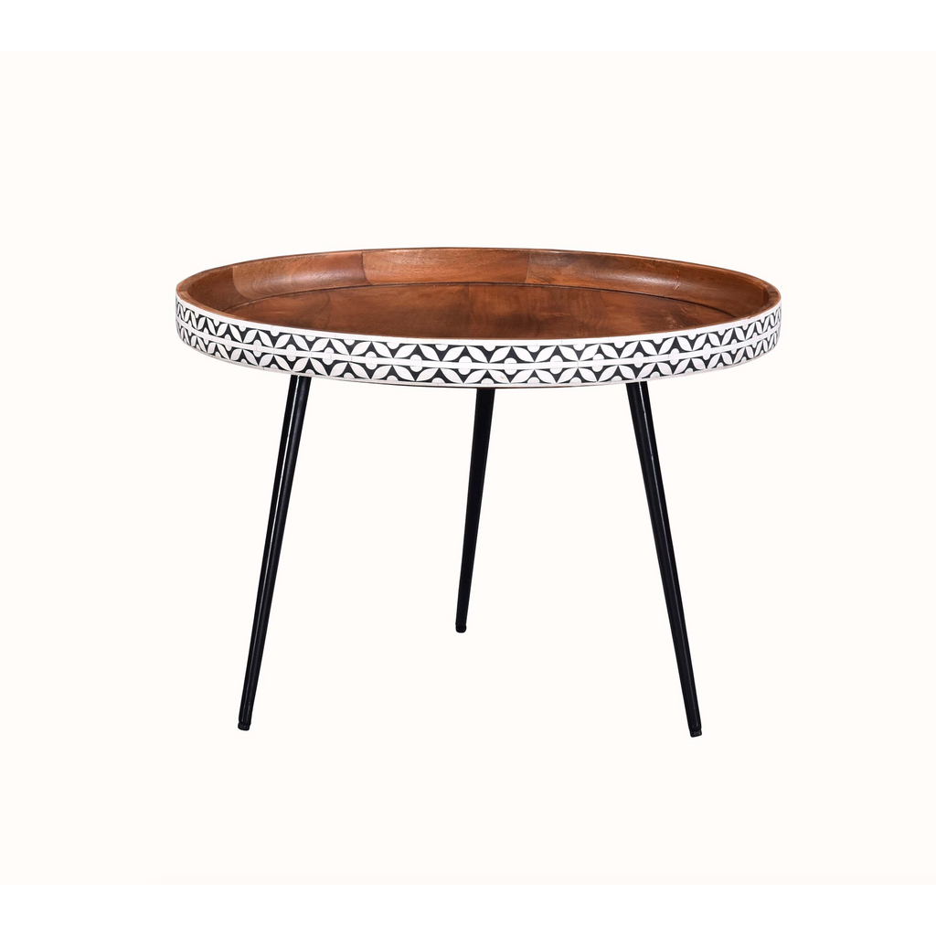 Industrial Mosaic Round Coffee Table