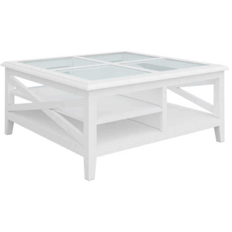 Summer Square Coffee Table with Glass Top