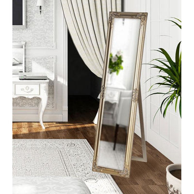 Tuscany Ornate Cheval Mirror Champagne 160x40cm