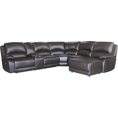 Sarah Corner Lounge Leather With Recliners & Chaise