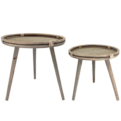 Rattan Side Table S/2