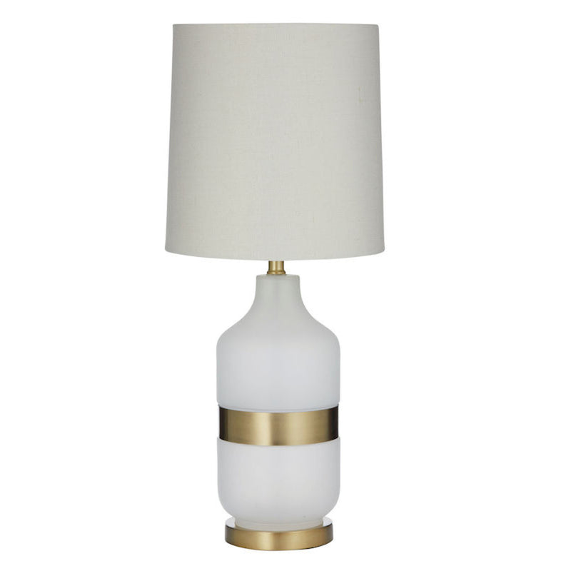 Iver Table Lamp White/Gold/Ivory
