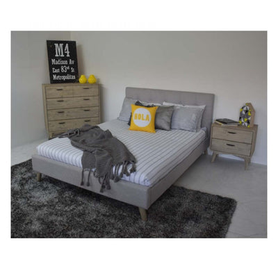 Macey Queen Bed Made From Fabric Materials