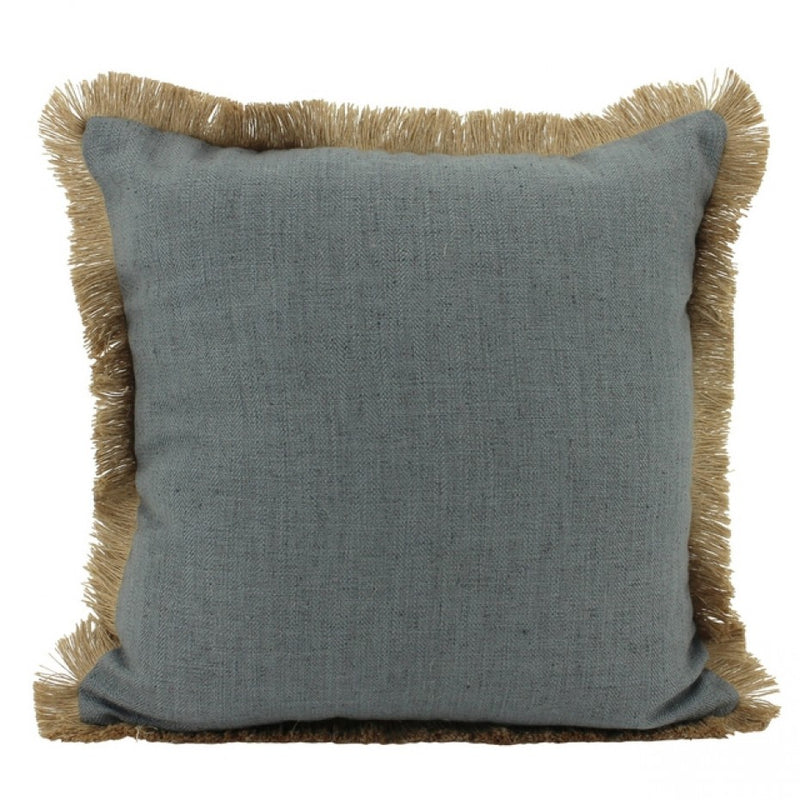 Linen Fringe Cushion
