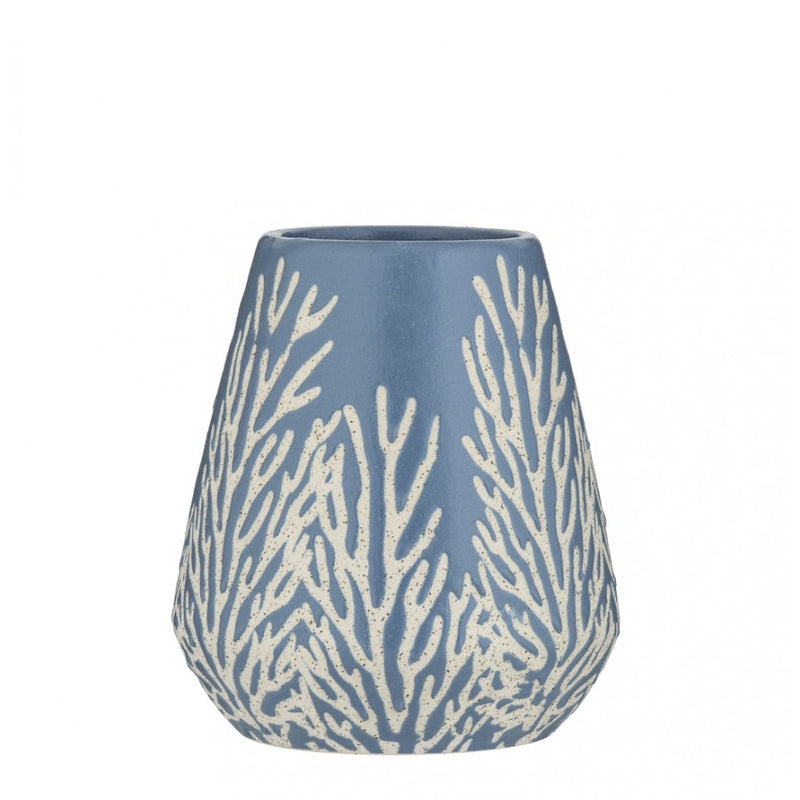 Cailey Vase White/Blue