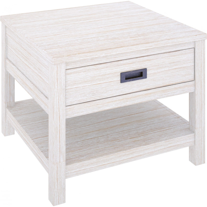 Beech Lamp Table Brushed White
