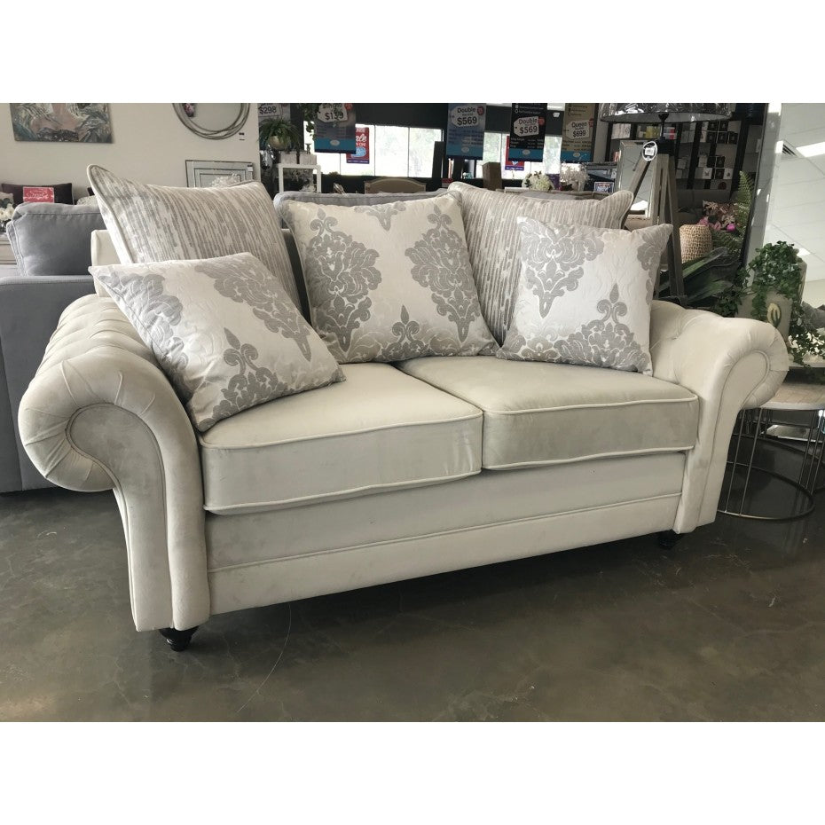 Vienna 2 Seater Love Seat Made From Fabric Materials