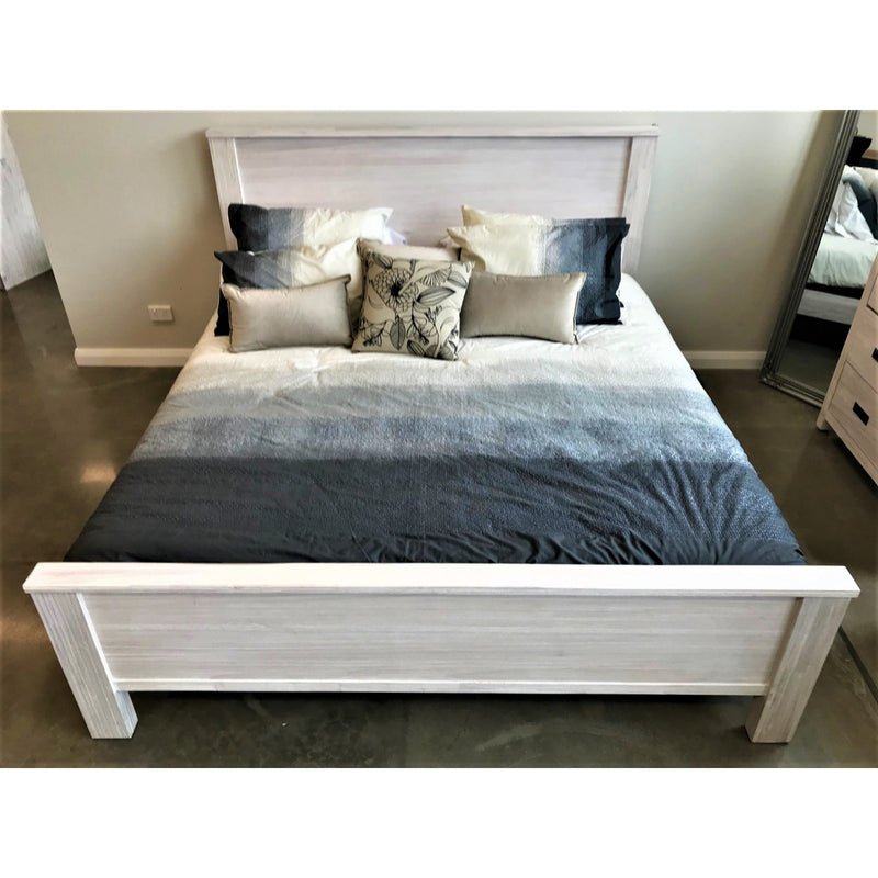 Beech King Bed Brushed White