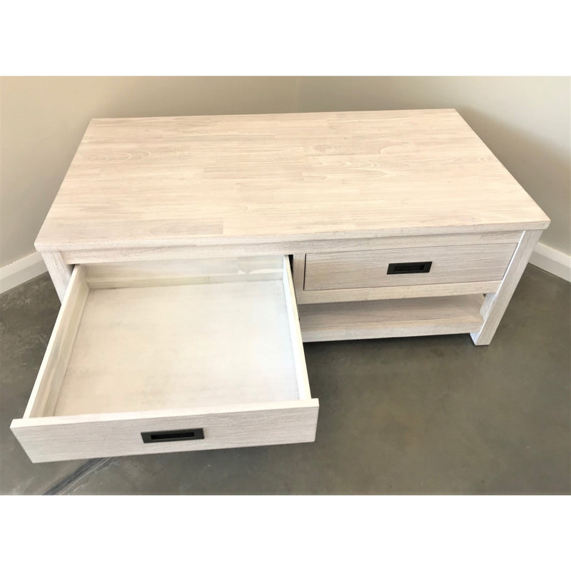 Beech Coffee Table Brushed White