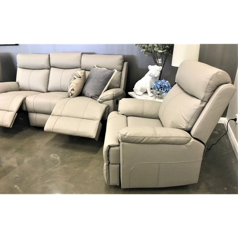 Prince Leather 3 Seater sofa with Electric recliners + 2 Single Electric Recliners